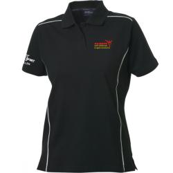 Rainbow Poloshirt mit Clublogo Damen