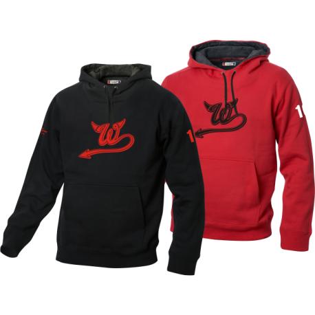 Wil Devils Pullover mit grossem W