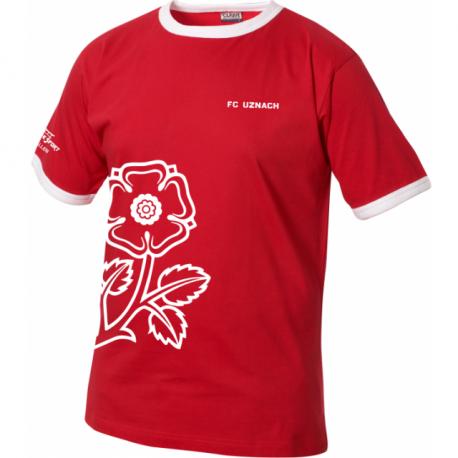 FC Uznach T-Shirt mit Blume schräg