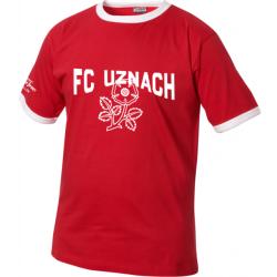 FC Uznach T-shirt mit Logo und Blume schräg