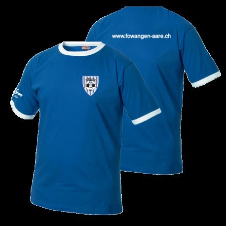 FC Wangen a.Aare mit Clublogo & www-Schriftzug hinten