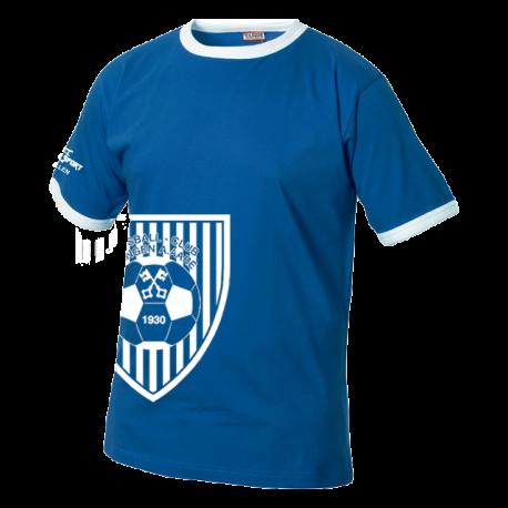 FC Wangen a.Aare T-Shirt mit Logo schräg royal