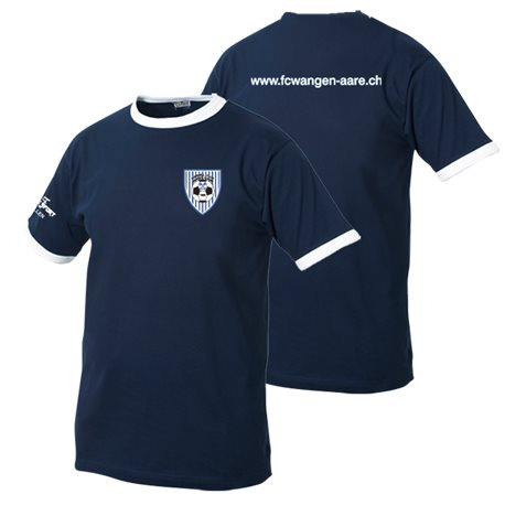 FC Wangen a.Aare T-Shirt mit Clublogo & www-Schriftzug hinten