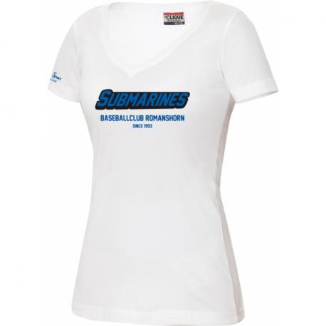 Baseballclub Romanshorn Submarines T-Shirt mit Schriftzug 2-farbig - Damen