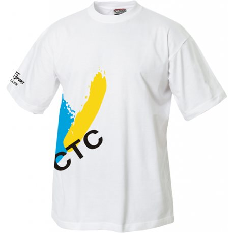 FC Thusis/Cazis T-Shirt mit Clublogo schräg