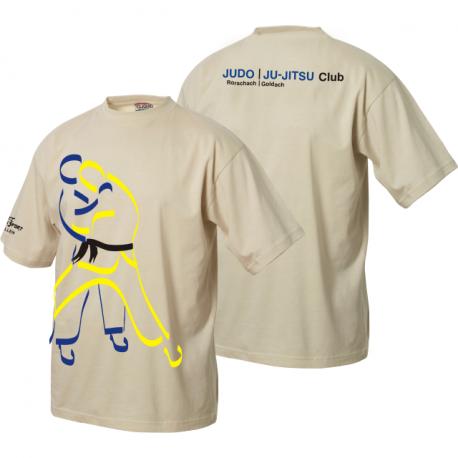 Judo Ju-Jitsu Club Rorschach/Goldach T-Shirt mit grossem Clublogo und Schriftzug hinten