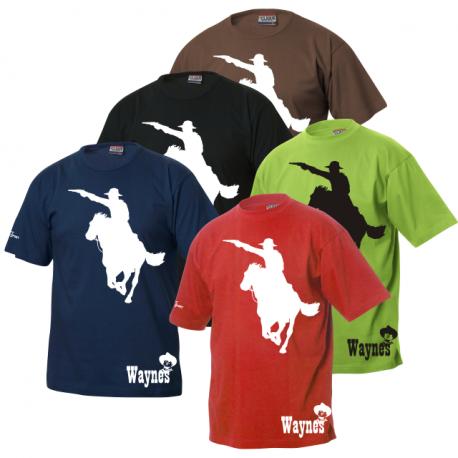 Waynes Buchs ZH T-Shirt mit Cowboy 2 & Logo unten