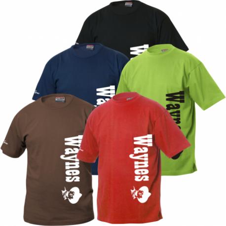 Waynes Buchs ZH T-Shirt mit vertikaler Schrift