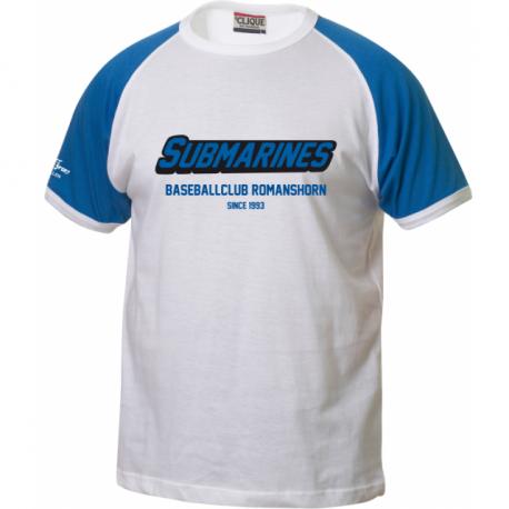 Baseballclub Romanshorn Submarines T-Shirt mit Schriftzug 2-farbig - Erwachsene