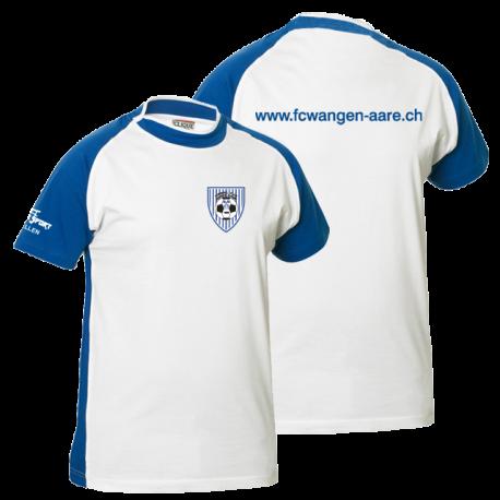 FC Wangen a.Aare T-Shirt mit Clublogo vorne und www-Schrfitzug hinten