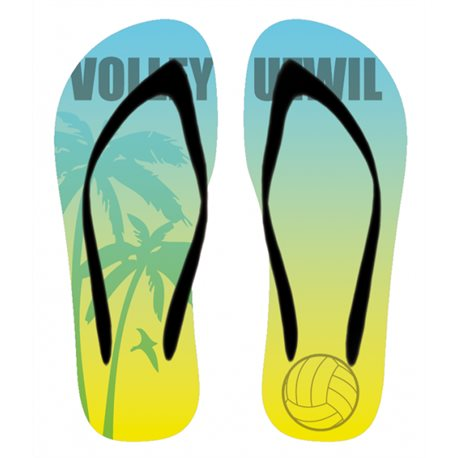 Flip-Flop Volley Uzwil gelb/blau