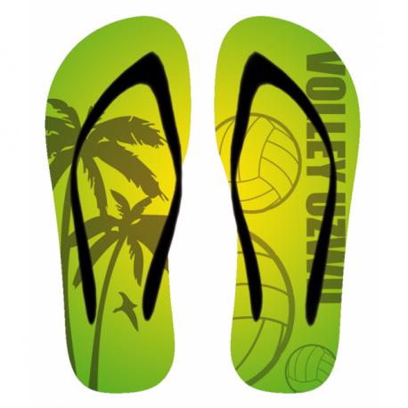 Flip-Flop Volley Uzwil gelb/grün