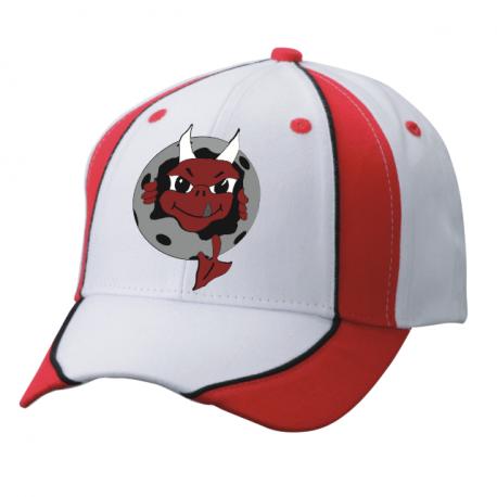Ruinaulta Devils Valendes Cap weiss/schwarz/rot mit Logo vorne