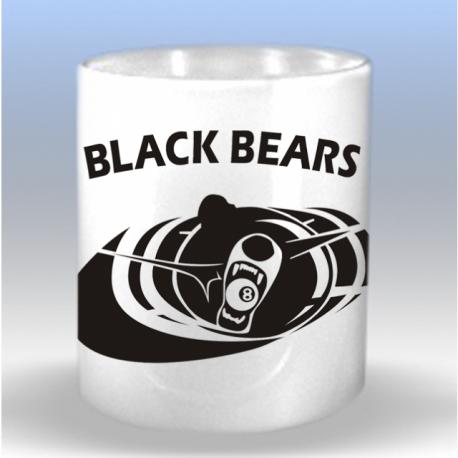 Tasse mit Black Bears Billard Logo