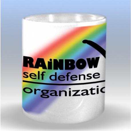 Tasse mit Rainbow Self Defense Logo