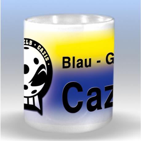Tasse mit UHC Blau Gelb Cazis Logo