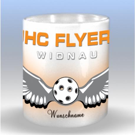 Tasse mit UHC Flyers Widnau Clublogo