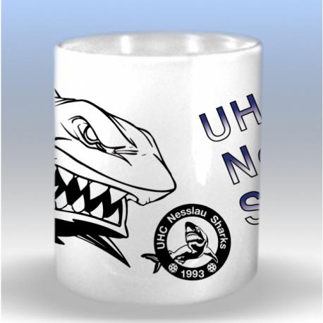 Tasse mit UHC Nesslau Shark Logo