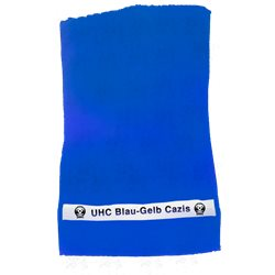 Tuch UHC Blau Gelb Cazis mit Clublogo