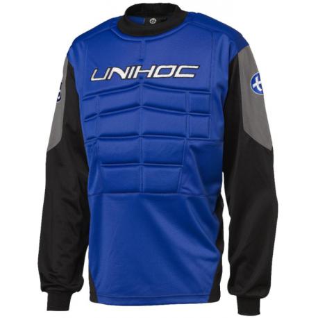 UNIHOC Goalieblocker blau/schwarz Kinder