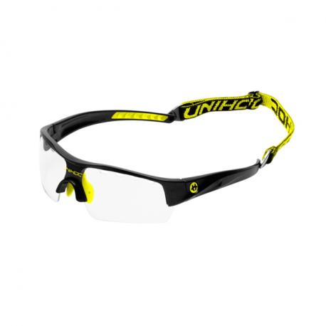 UNIHOC Unihockey-Brille VICTORY Senior - Schwarz NeonGelb
