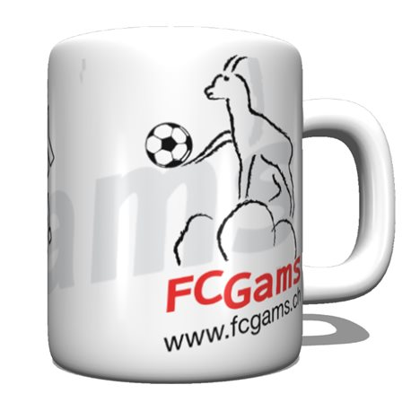 Tasse mit FC-Gams Motiv