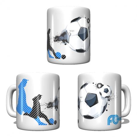 FC Rüthi Tasse mit Clublogo und Fussball-Motiv