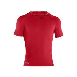 Under Armour HeatGear Sonic Compression SS T Red-White