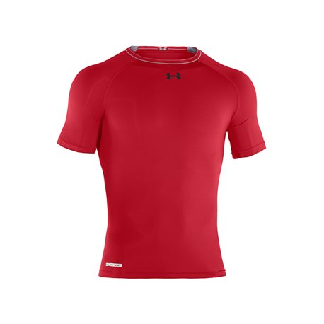 25e99b739262 Under Armour HeatGear Sonic Compression SS T Red-White