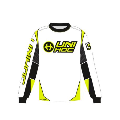 UNIHOC Goalie-Shirt OPTIMA - weiss/neon gelb