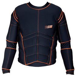 EXEL Protection Shirt S100 - Black-Orange - Erwachsene