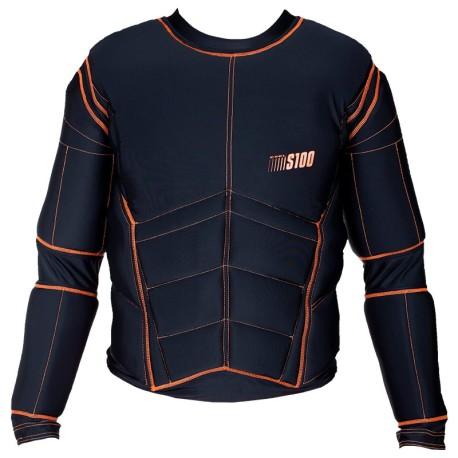 EXEL Protection Shirt S100 - Black-Orange - Erwachsene