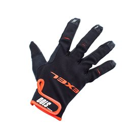 EXEL Goalie Gloves S100 - Black-Orange - Junior