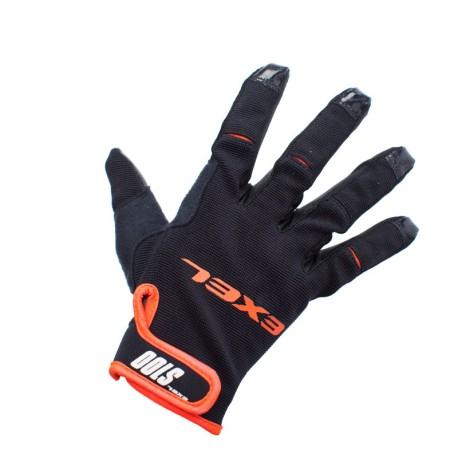 EXEL Goalie Gloves S100 - Black-Orange - Junior