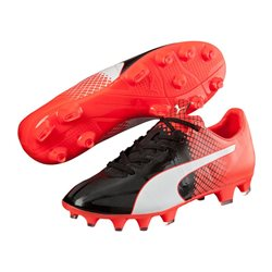 PUMA evoSpeed 1.5 Tricks FG - Schwarz Rot - Kinder