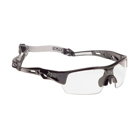 ZONE Unihockey-Brille MATRIX Junior - Schwarz Metallic