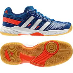Adidas Court Stabil Elite JR blau/weiss
