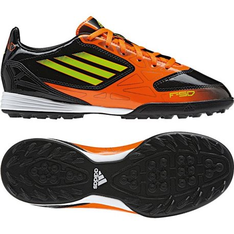 Adidas F10 Turf JR Schwarz Orange