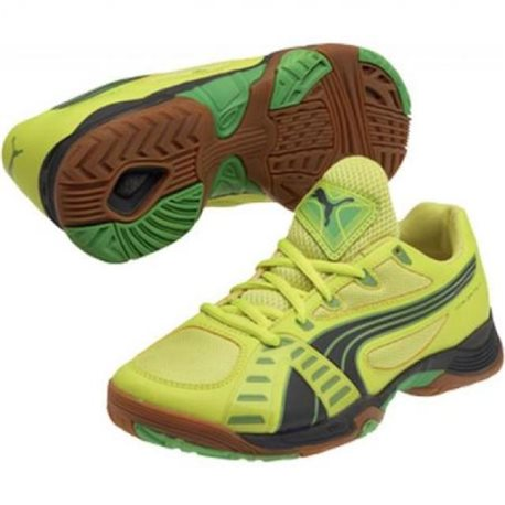PUMA Accelerate VI JR fluo yellow-dark shadow-cl.