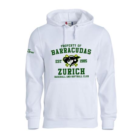 Barracudas Zürich Hoody mit Clublogo auf Brusthöhe
