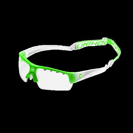 UNIHOC Unihockey-Brille VICTORY Junior - NeonGrün weiss