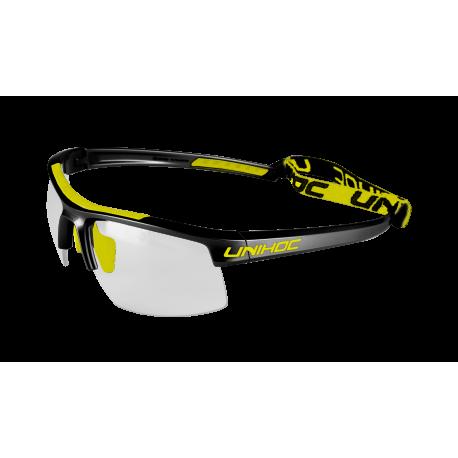 UNIHOC Unihockeybrille ENERGY Kids -schwarz neongelb