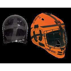 UNHIHOC Goalimaske Shield - orangeschwarz
