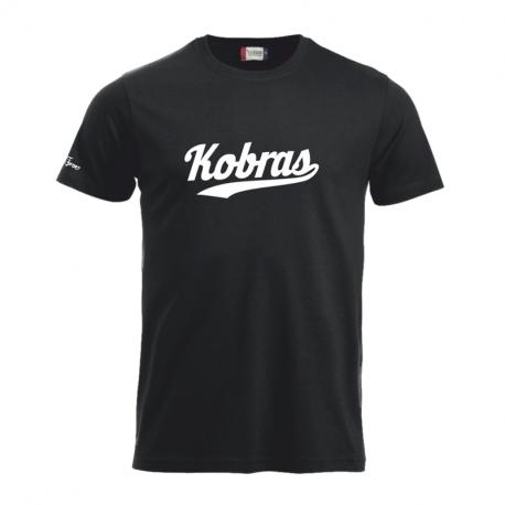 Kobra T-Shirt mit weissem Schriftzug