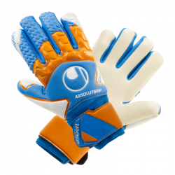 Uhlsport Absolutgrip HN Pro Junior cyan/orange/weiss