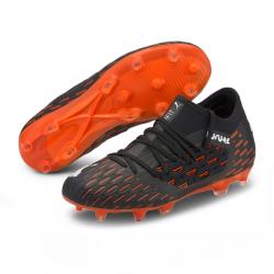 Puma 6.1 Netfit FG/AG Jun. Fussballschuhe Black-White-Shocking Orange