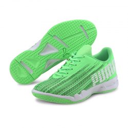 Puma Adrenalite 4.1 Junior Handballschuhe Elektro Green-Black-White