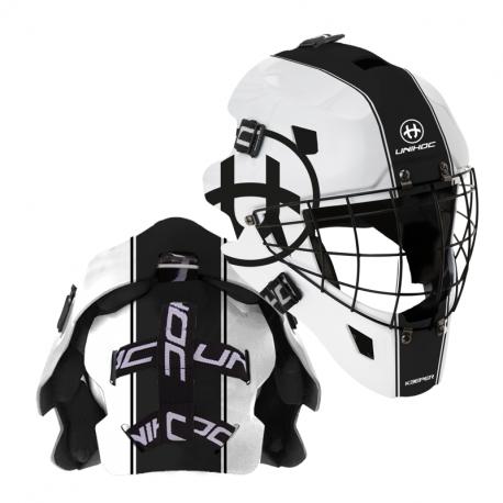 UNIHOC KEEPER 44 Maske weiss/schwarz